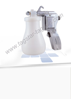 Garments cleaning spray gun with metal body